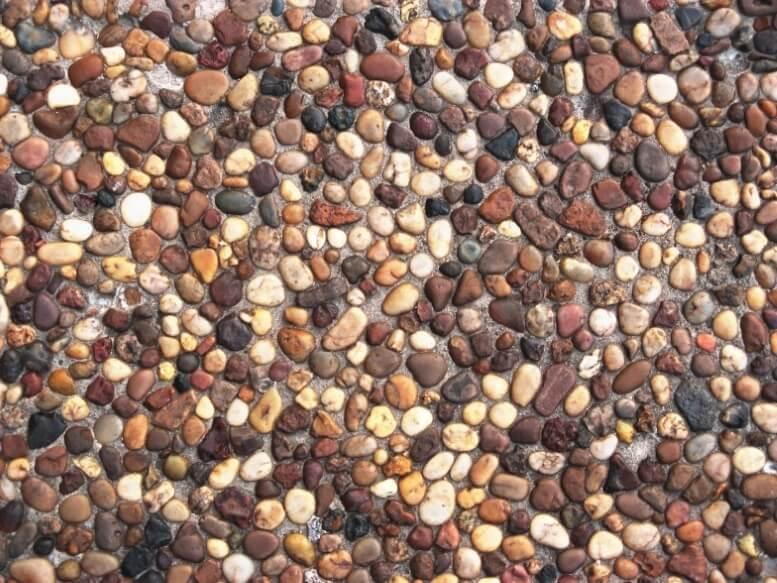 Voorbeeld grindvloer