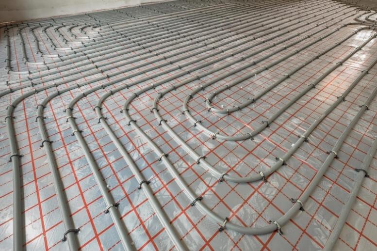 Tackerplaat vloerverwarming