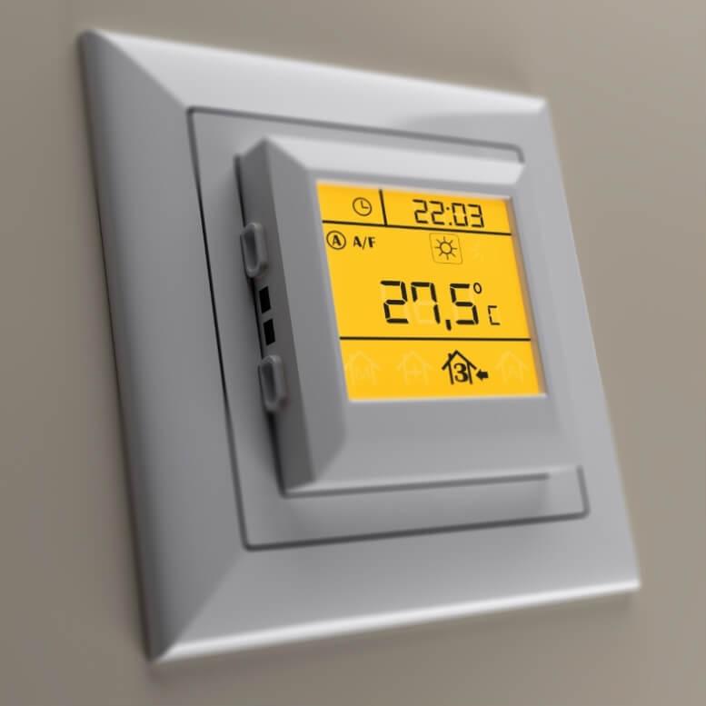 Voorbeeld van een thermostaat