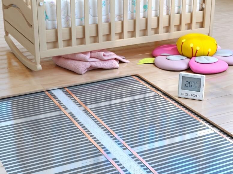 Vloerverwarming babykamer