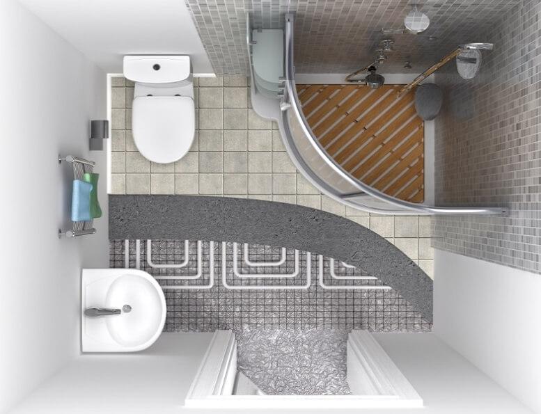 Vloerverwarming voor de badkamer